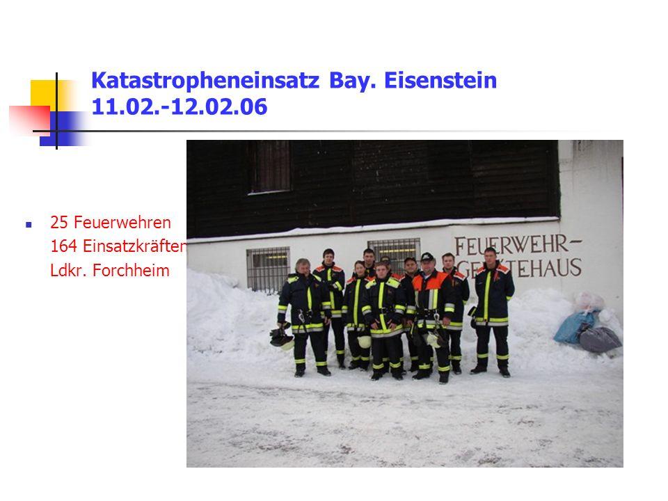 Katastropheneinsatz Bay. Eisenstein 11.02.-12.02.06