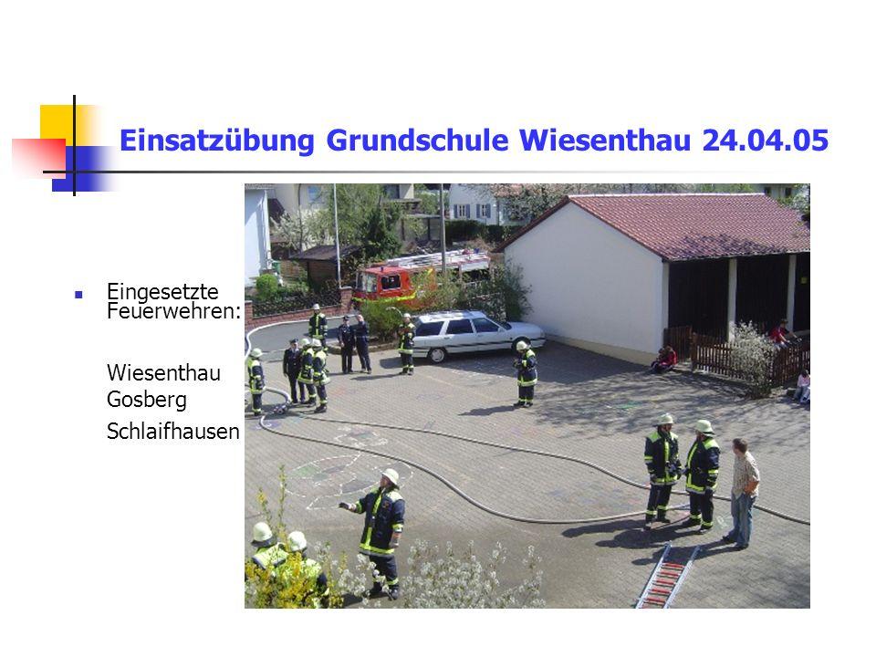 Einsatzübung Grundschule Wiesenthau 24.04.05