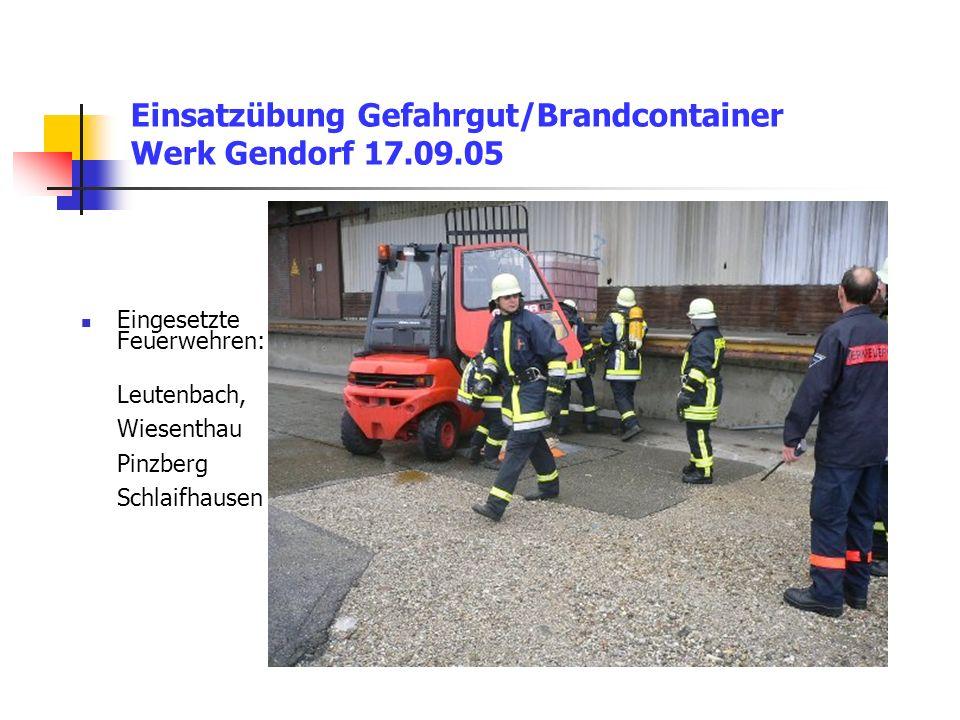 Einsatzübung Gefahrgut/Brandcontainer Werk Gendorf 17.09.05