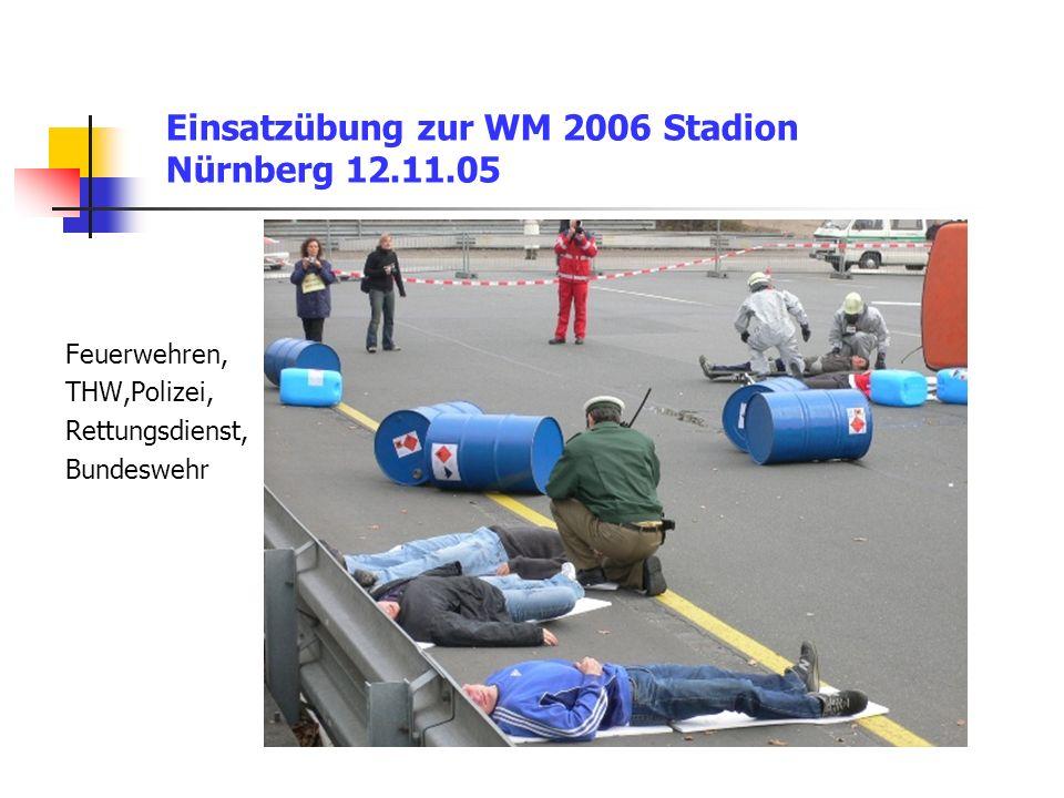 Einsatzübung zur WM 2006 Stadion Nürnberg 12.11.05