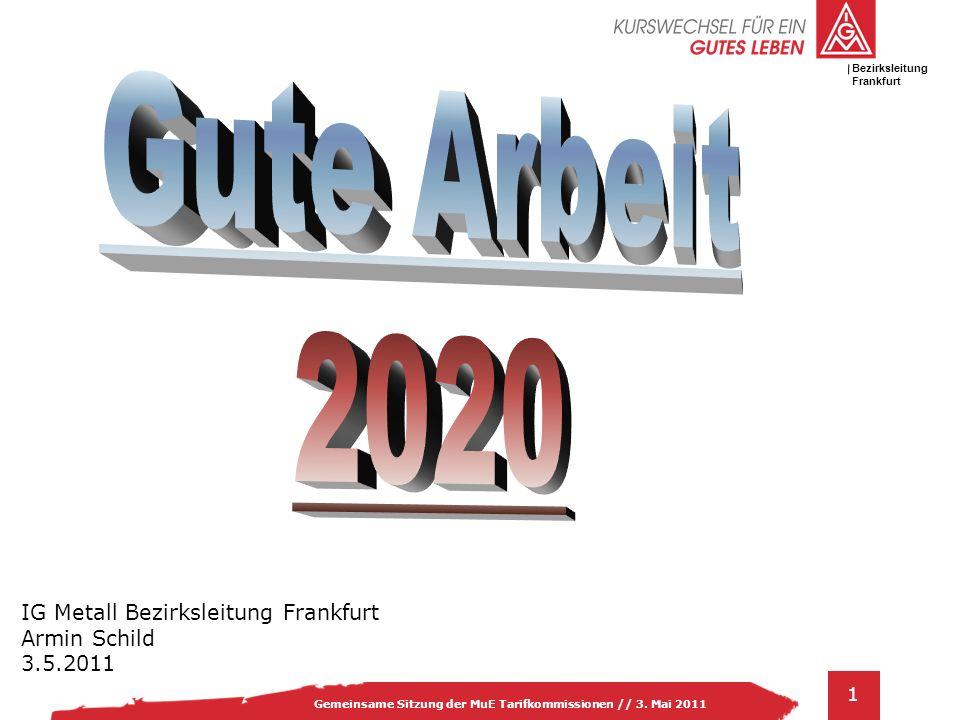 Gute Arbeit 2020 IG Metall Bezirksleitung Frankfurt Armin Schild