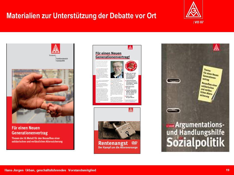 Materialien zur Unterstützung der Debatte vor Ort