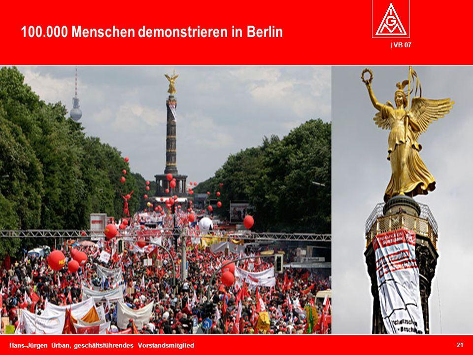 100.000 Menschen demonstrieren in Berlin