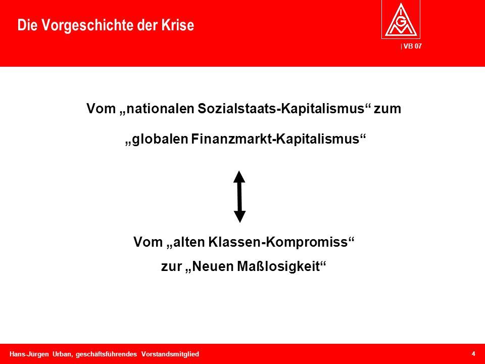Die Vorgeschichte der Krise
