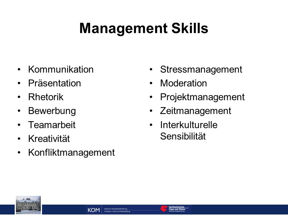 Management Skills Kommunikation Präsentation Rhetorik Bewerbung