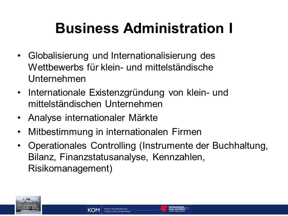 Business Administration I