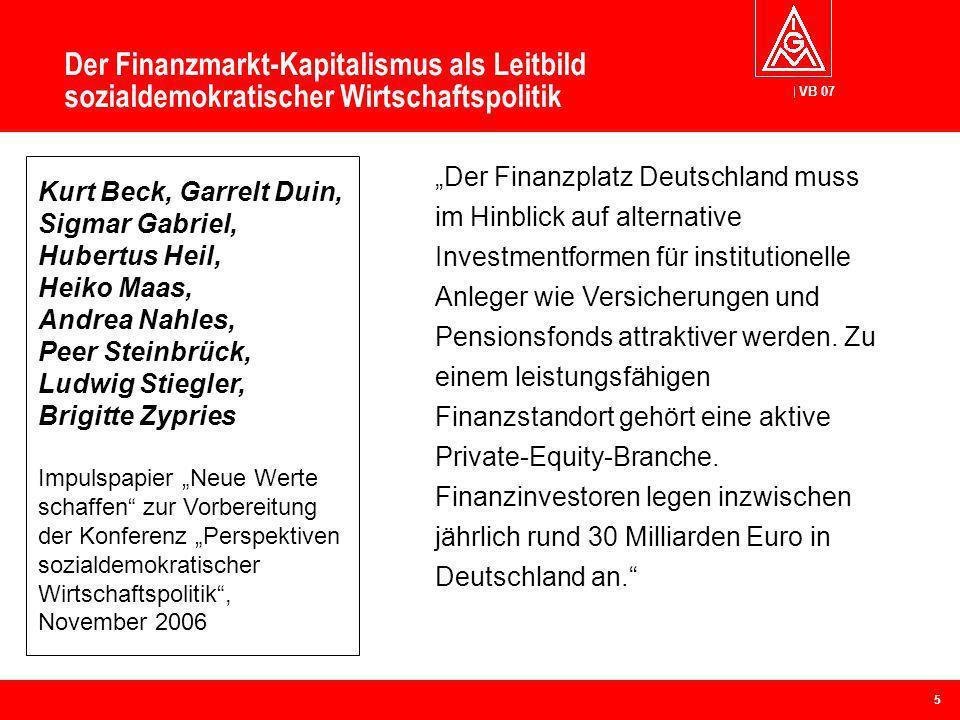 Der Finanzmarkt-Kapitalismus als Leitbild sozialdemokratischer Wirtschaftspolitik