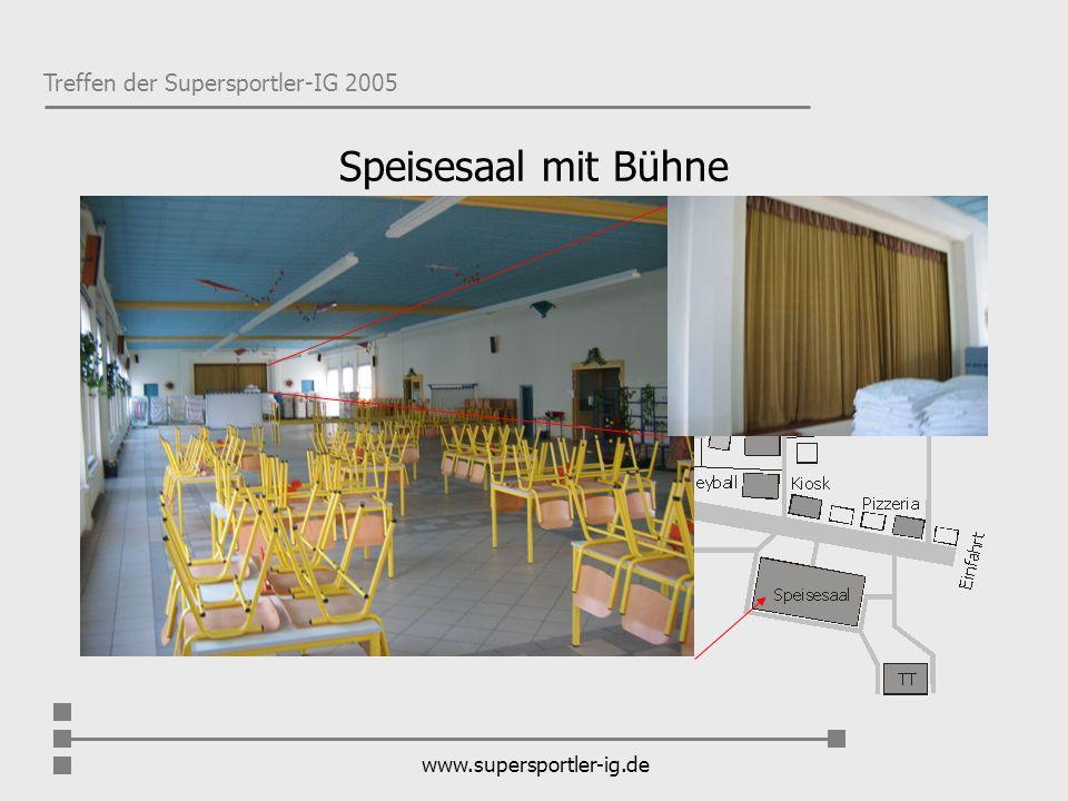 Speisesaal mit Bühne www.supersportler-ig.de