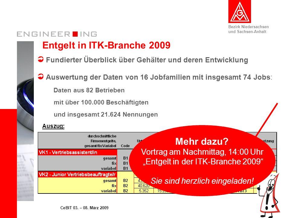 Entgelt in ITK-Branche 2009