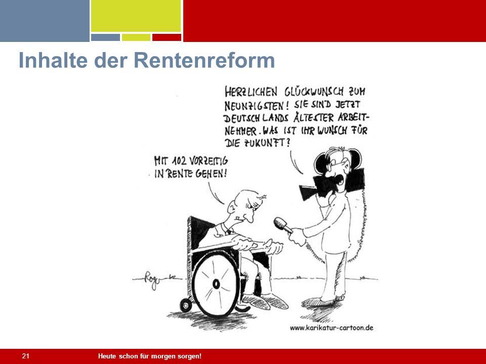 Inhalte der Rentenreform