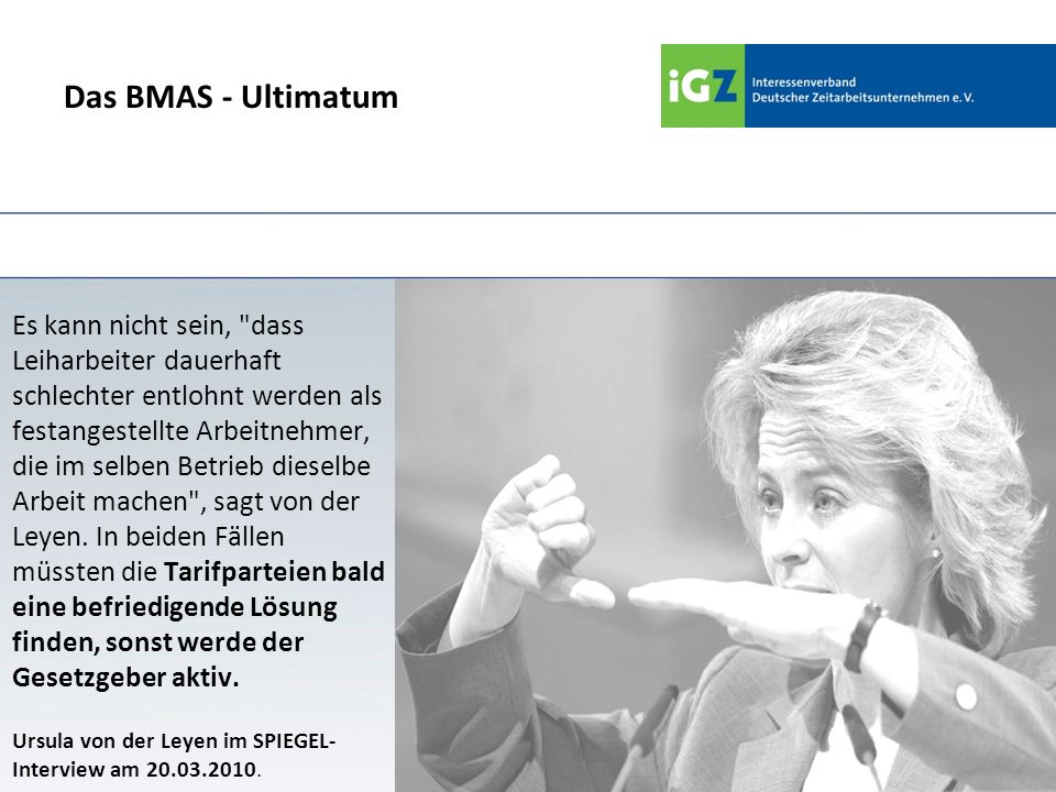 Das BMAS - Ultimatum