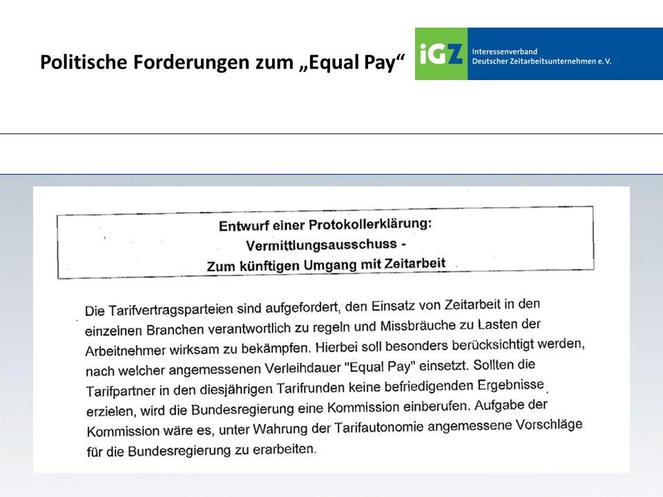 """Politische Forderungen zum """"Equal Pay"""