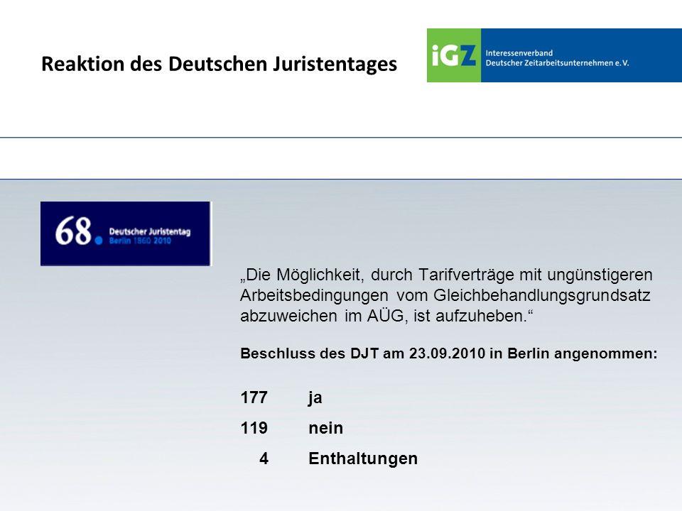 Reaktion des Deutschen Juristentages