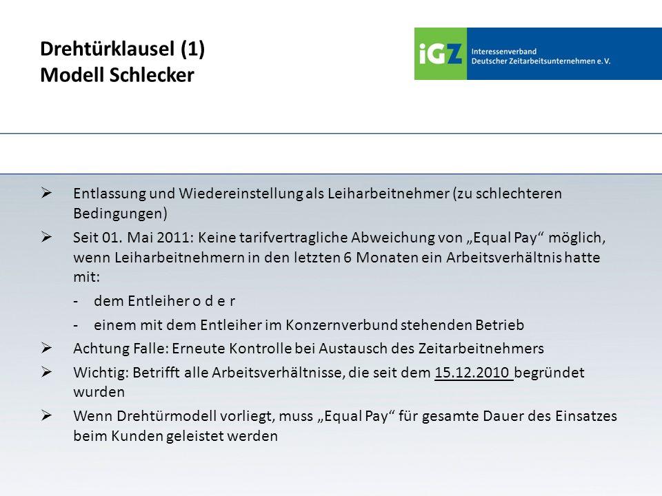 Drehtürklausel (1) Modell Schlecker