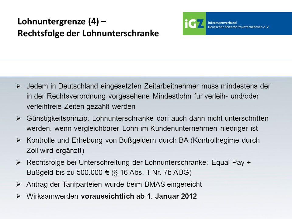 Lohnuntergrenze (4) – Rechtsfolge der Lohnunterschranke