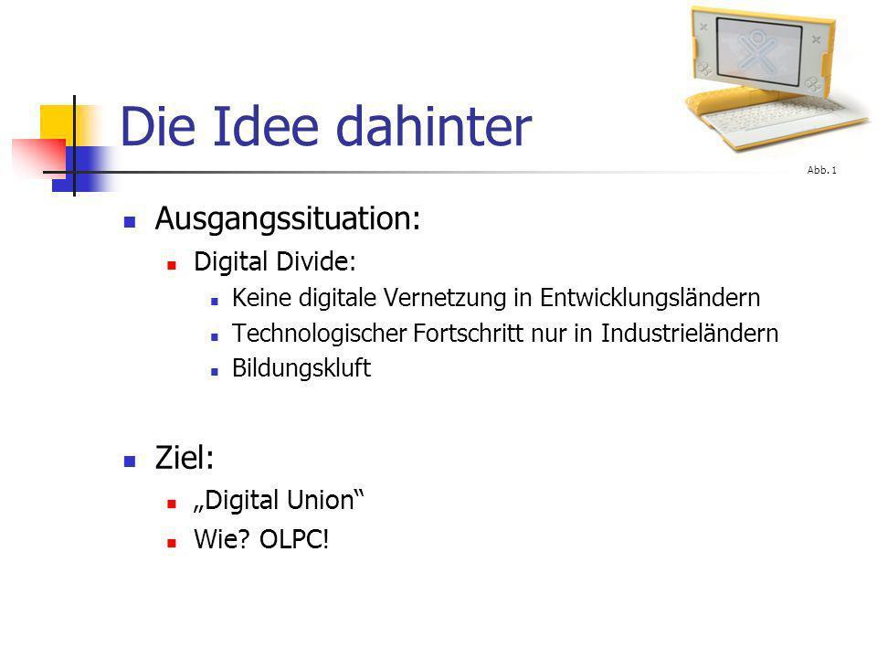 Die Idee dahinter Ausgangssituation: Ziel: Digital Divide: