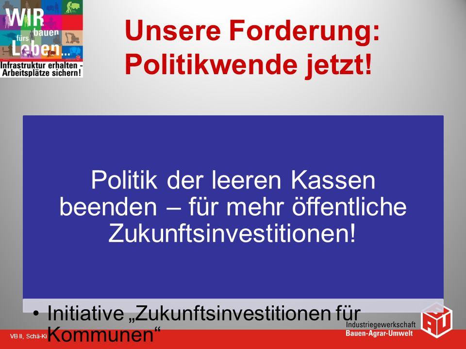 Unsere Forderung: Politikwende jetzt!