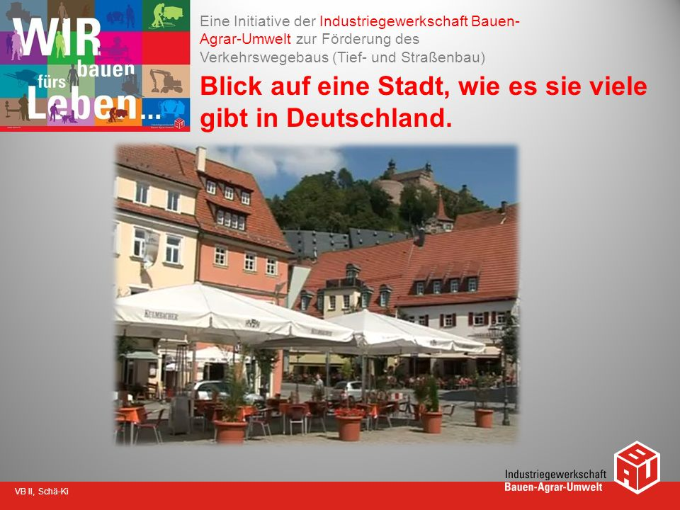 Blick auf eine Stadt, wie es sie viele gibt in Deutschland.
