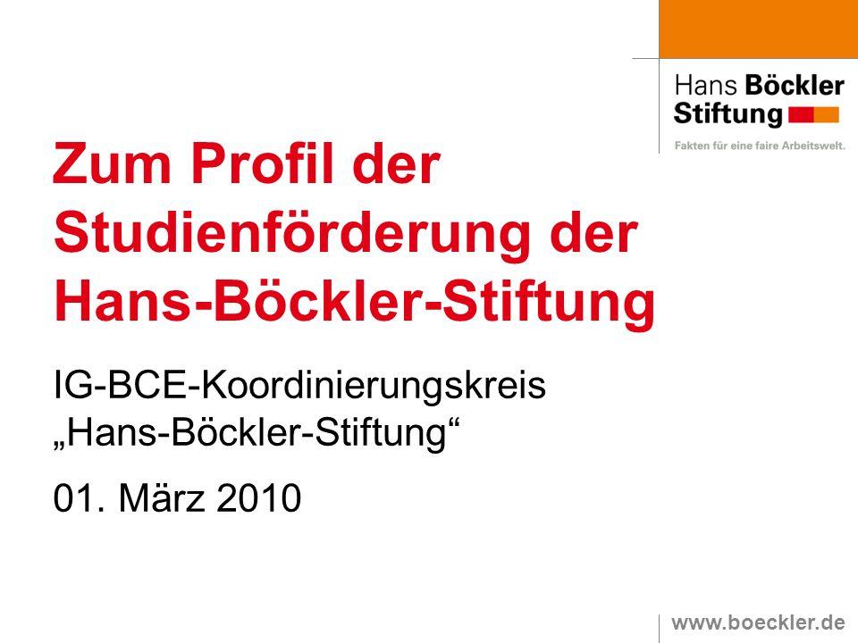Zum Profil der Studienförderung der Hans-Böckler-Stiftung