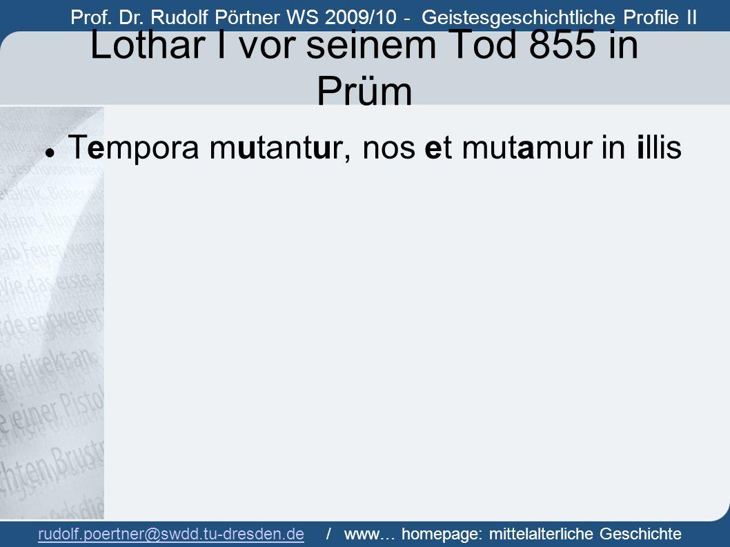 Lothar I vor seinem Tod 855 in Prüm