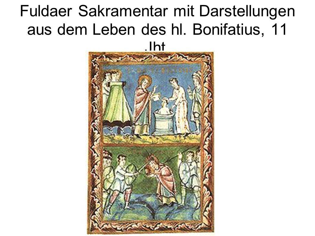 Fuldaer Sakramentar mit Darstellungen aus dem Leben des hl