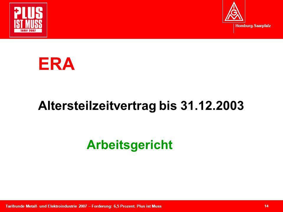 Altersteilzeitvertrag bis 31.12.2003