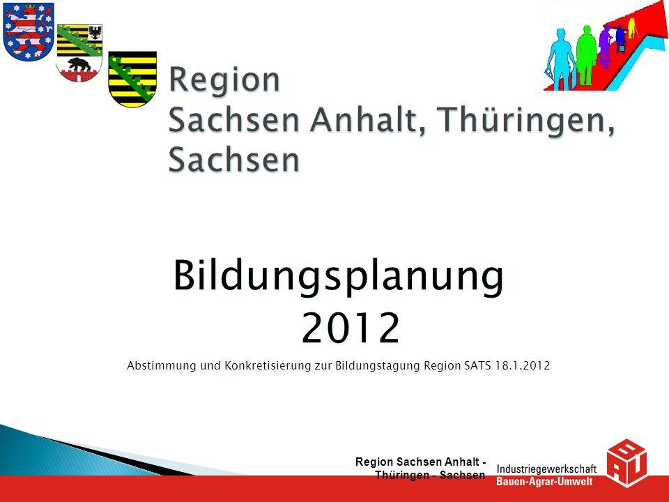 Region Sachsen Anhalt, Thüringen, Sachsen
