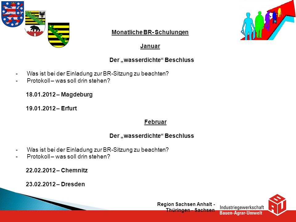 """Monatliche BR- Schulungen Januar Der """"wasserdichte Beschluss"""