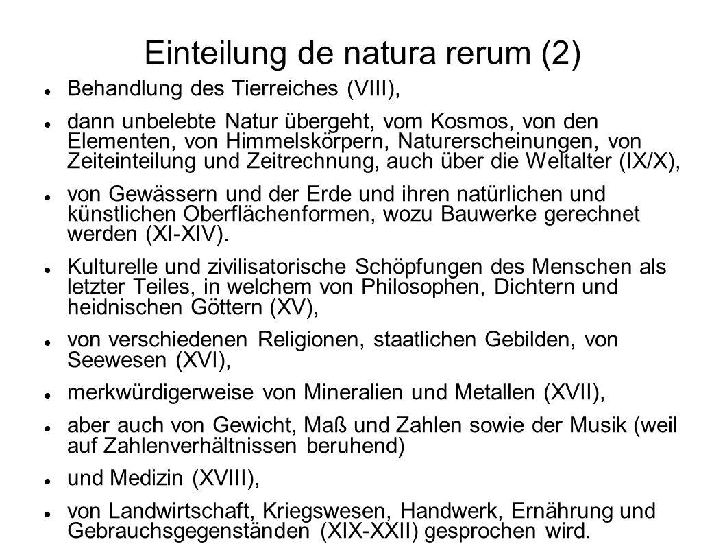 Einteilung de natura rerum (2)