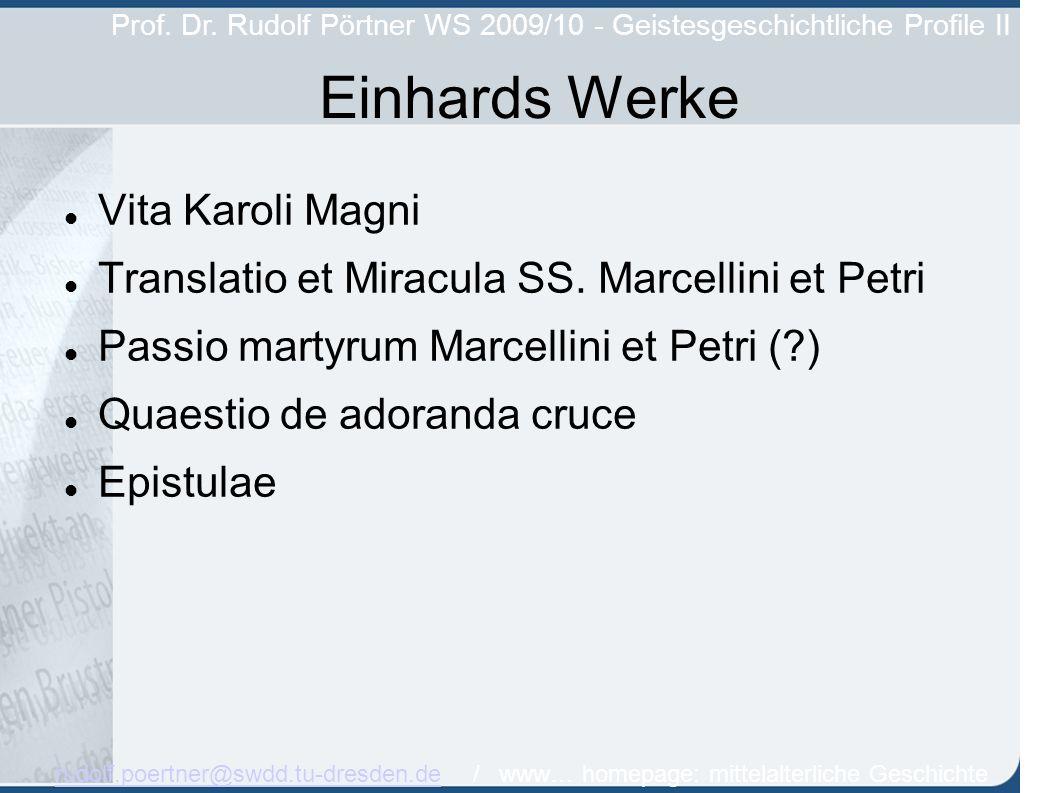 Einhards Werke Vita Karoli Magni