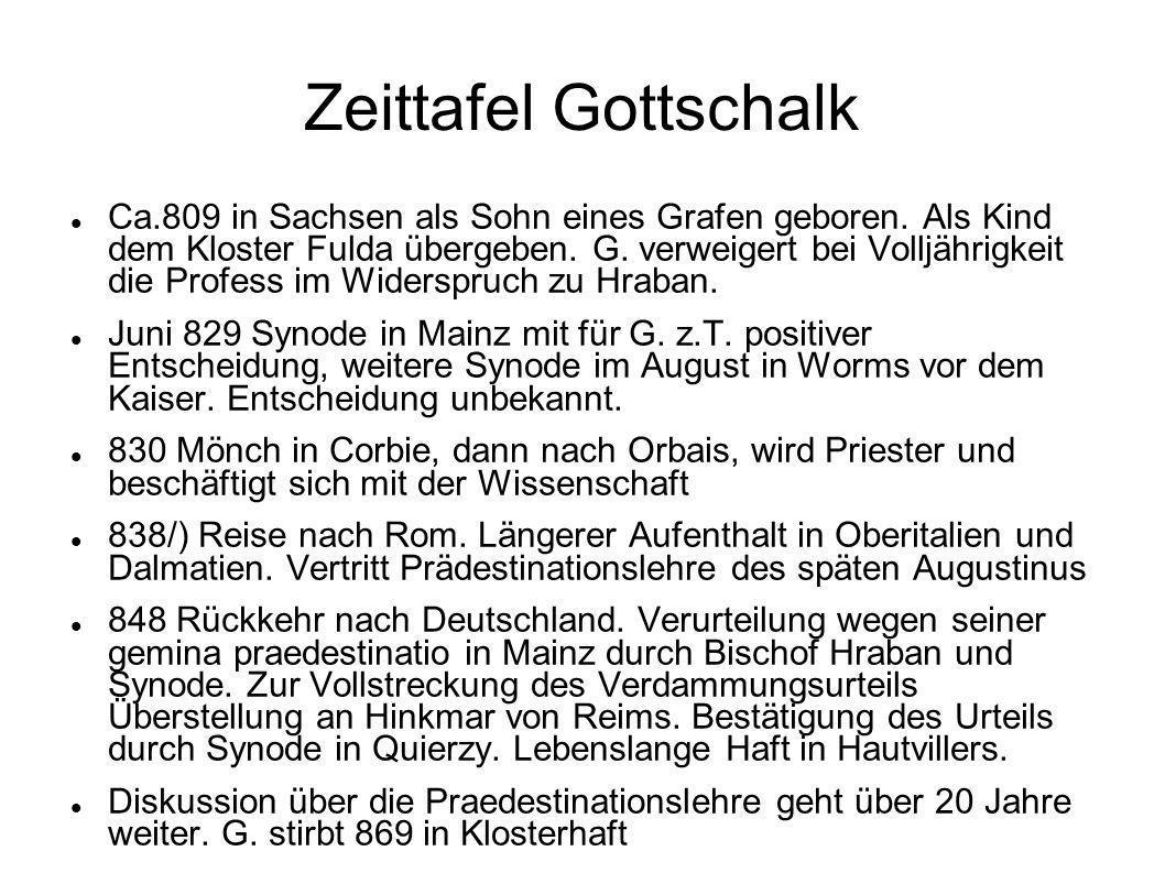 Zeittafel Gottschalk