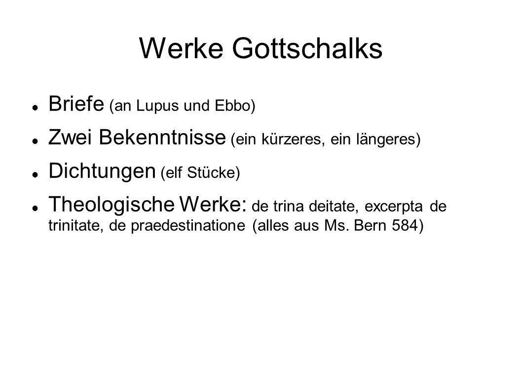 Werke Gottschalks Briefe (an Lupus und Ebbo)