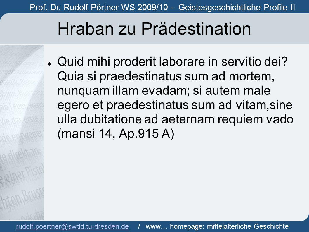 Hraban zu Prädestination