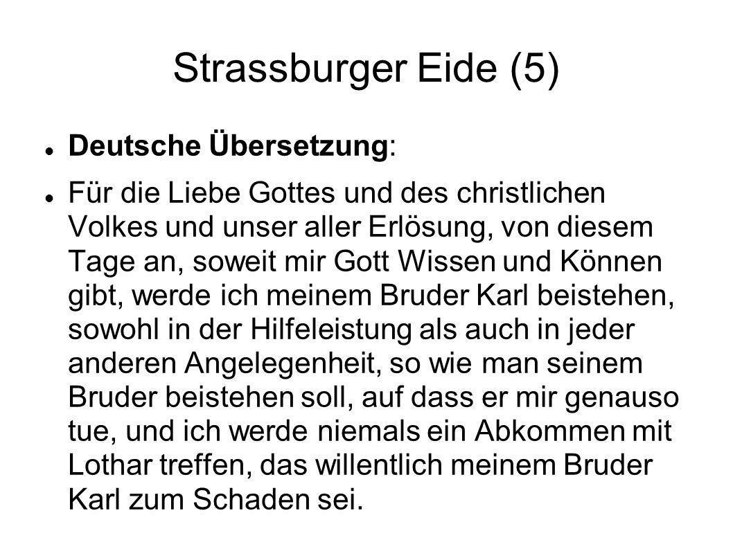 Strassburger Eide (5) Deutsche Übersetzung: