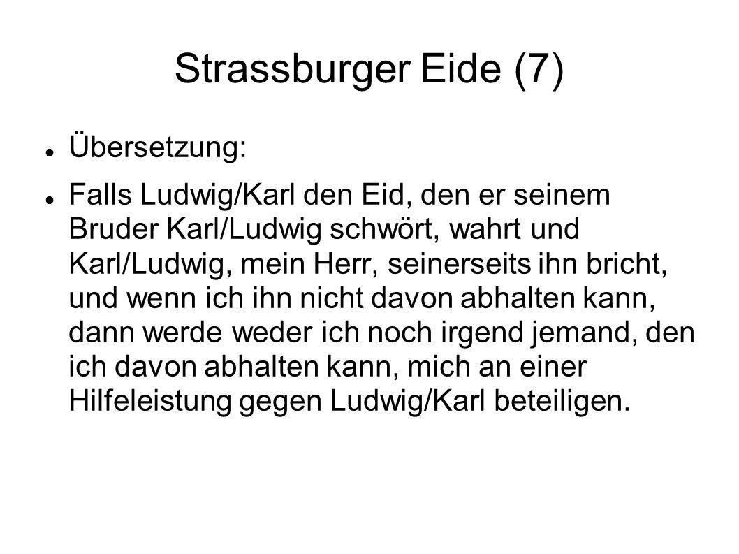 Strassburger Eide (7) Übersetzung: