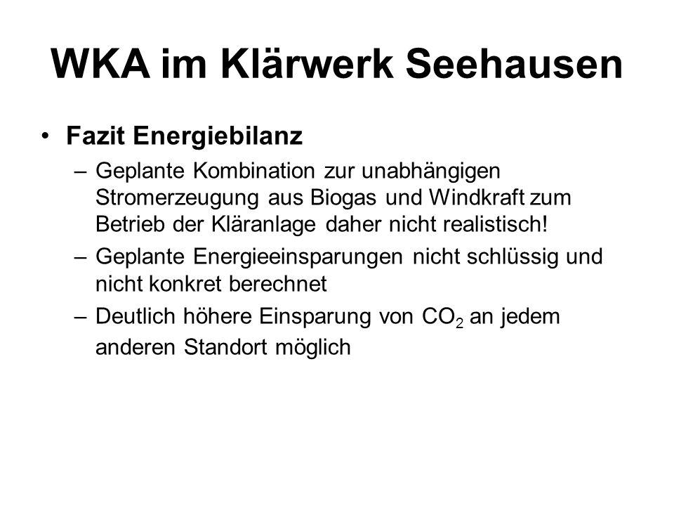 WKA im Klärwerk Seehausen