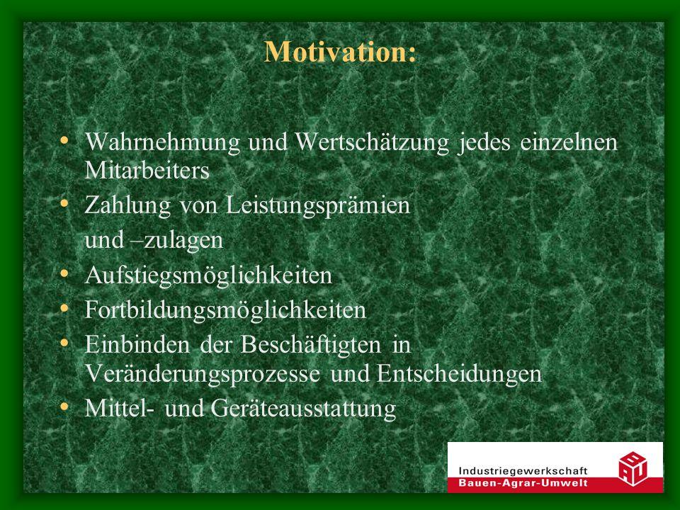 Motivation: Wahrnehmung und Wertschätzung jedes einzelnen Mitarbeiters