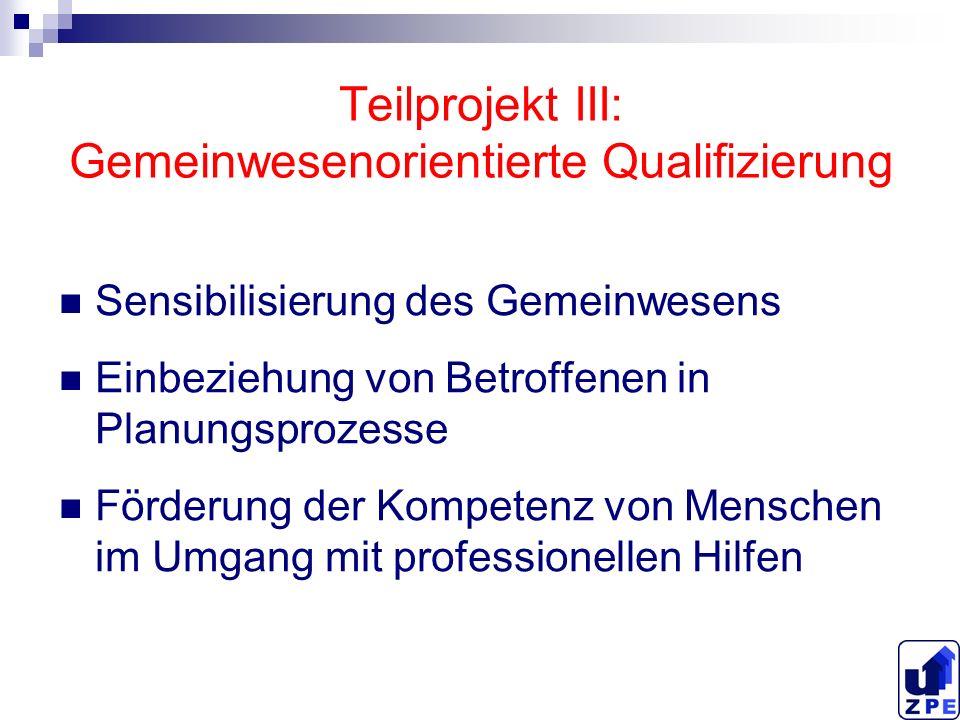 Teilprojekt III: Gemeinwesenorientierte Qualifizierung