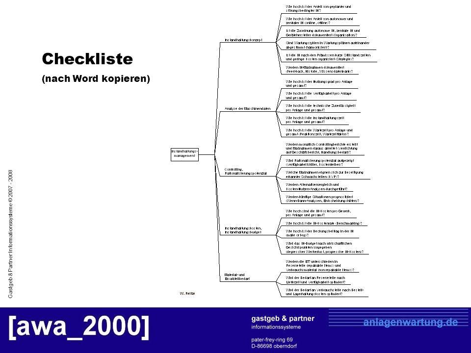 Checkliste (nach Word kopieren)
