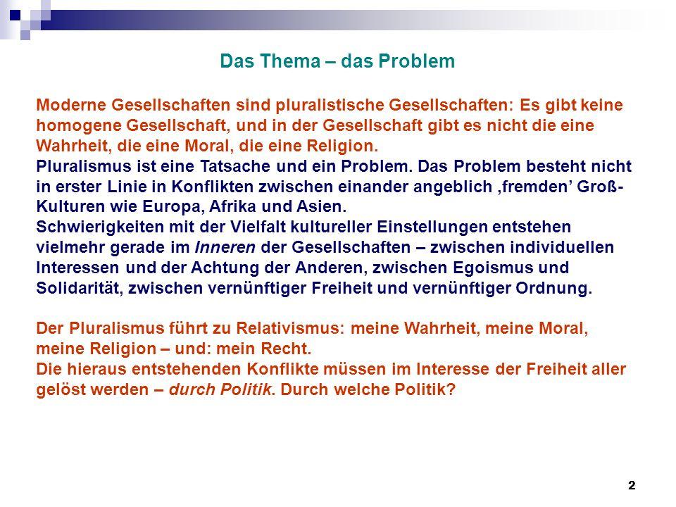 Das Thema – das Problem