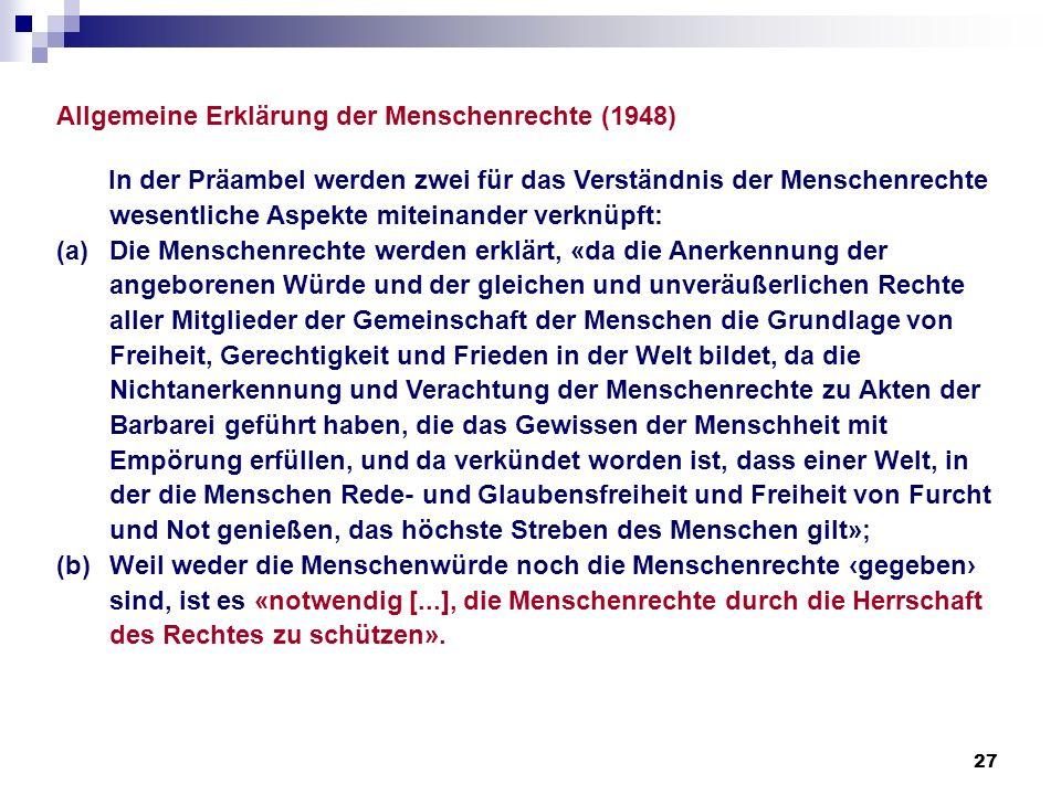 Allgemeine Erklärung der Menschenrechte (1948)