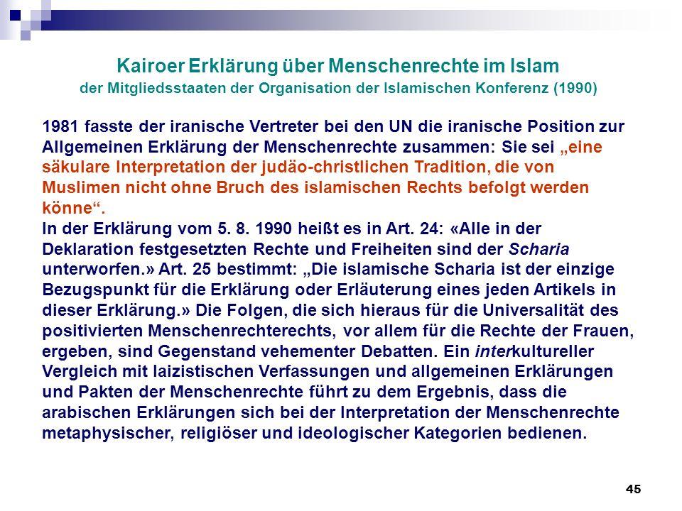 Kairoer Erklärung über Menschenrechte im Islam