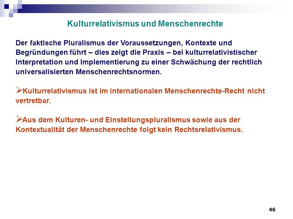 Kulturrelativismus und Menschenrechte