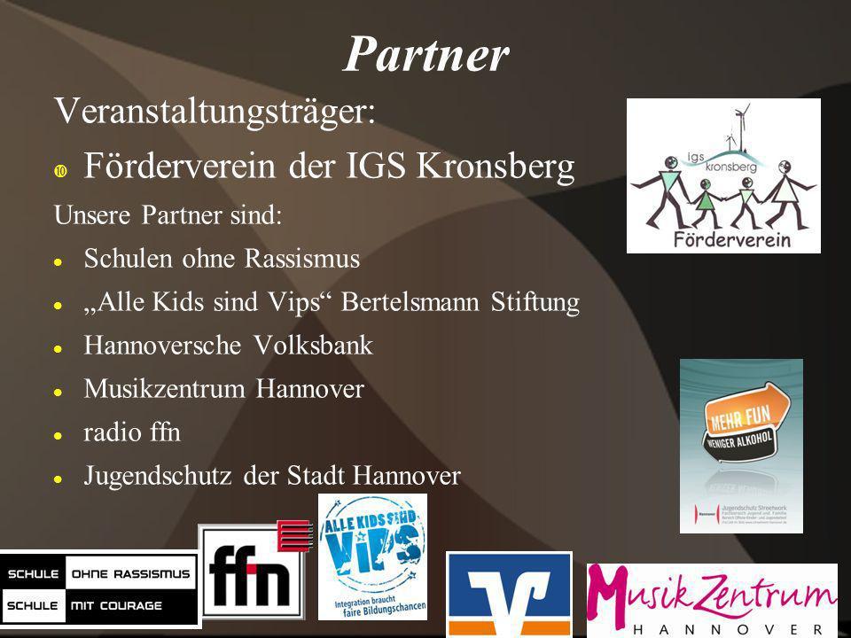 Partner Veranstaltungsträger: Förderverein der IGS Kronsberg