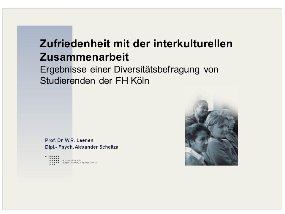 Zufriedenheit mit der interkulturellen Zusammenarbeit