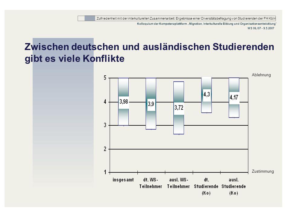 Zwischen deutschen und ausländischen Studierenden gibt es viele Konflikte
