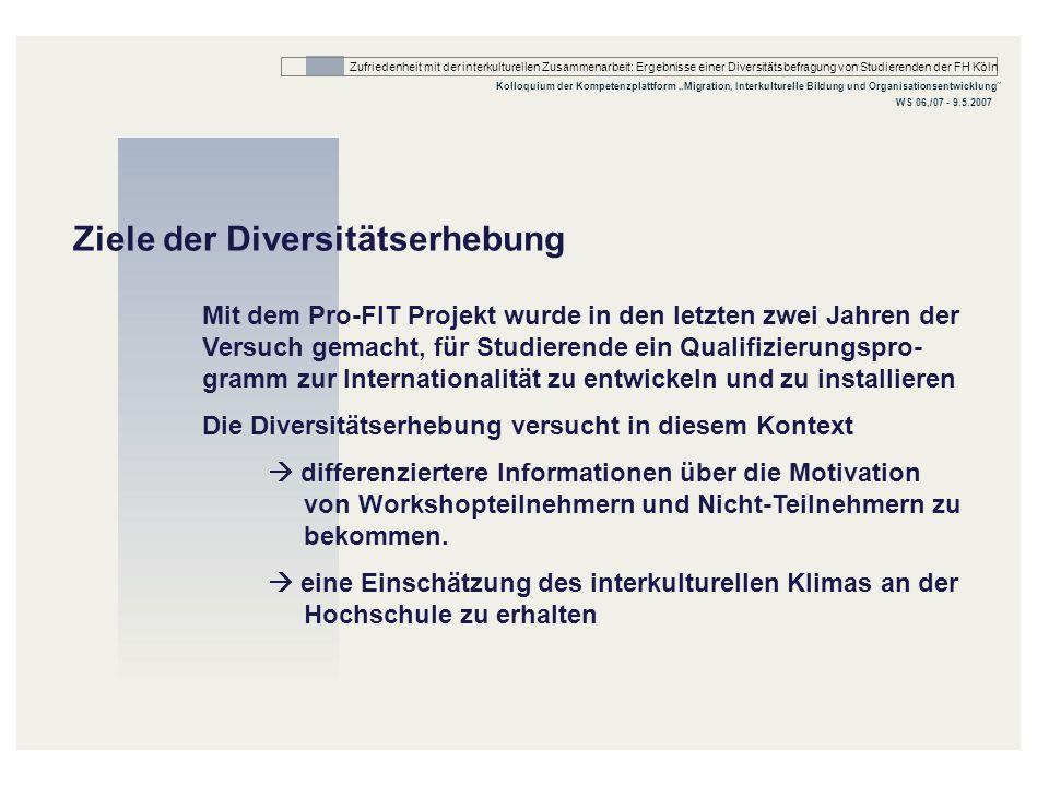 Ziele der Diversitätserhebung
