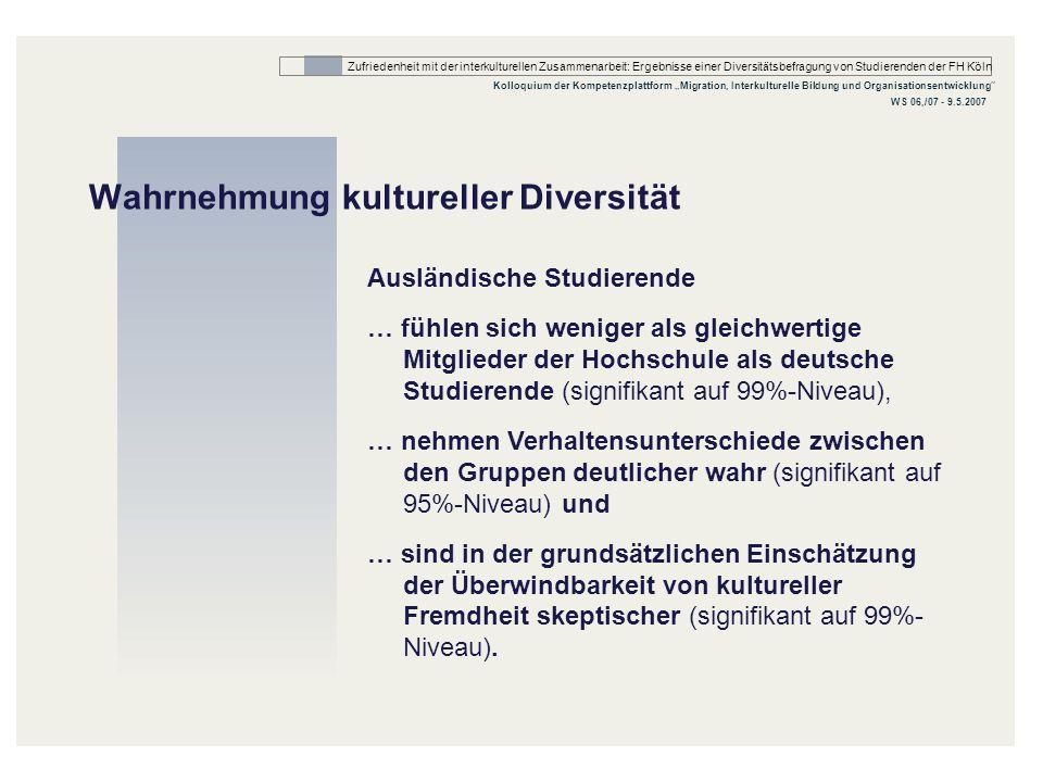 Wahrnehmung kultureller Diversität