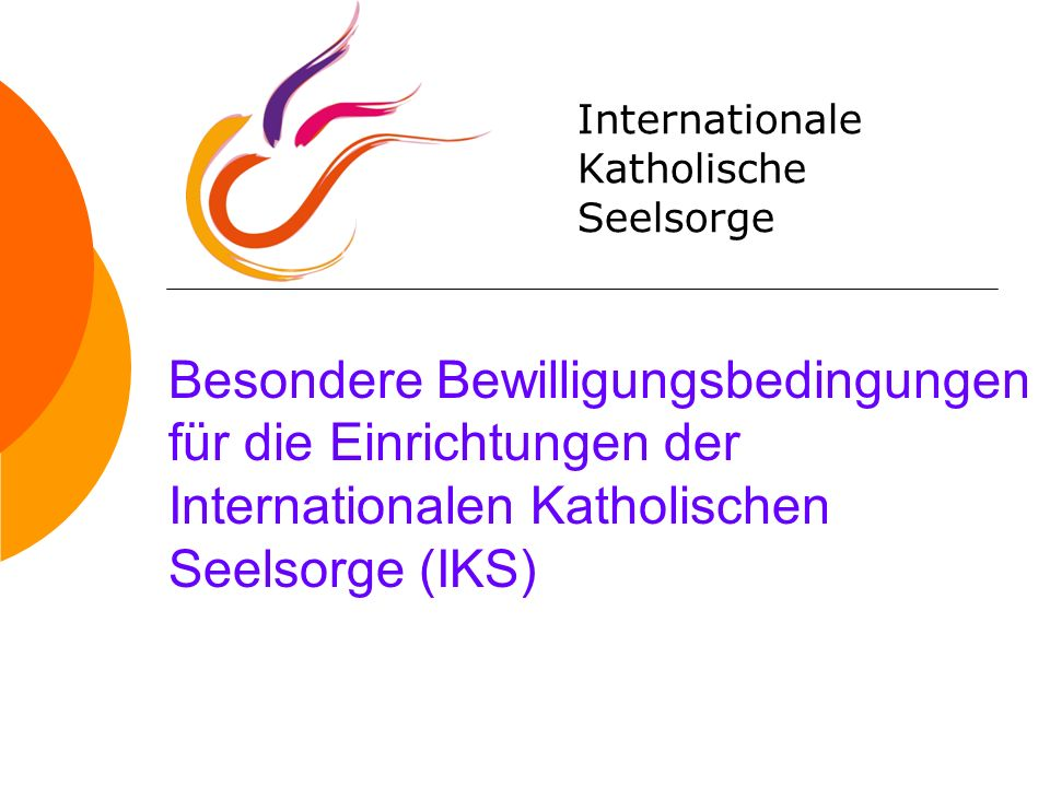 Internationale Katholische. Seelsorge.