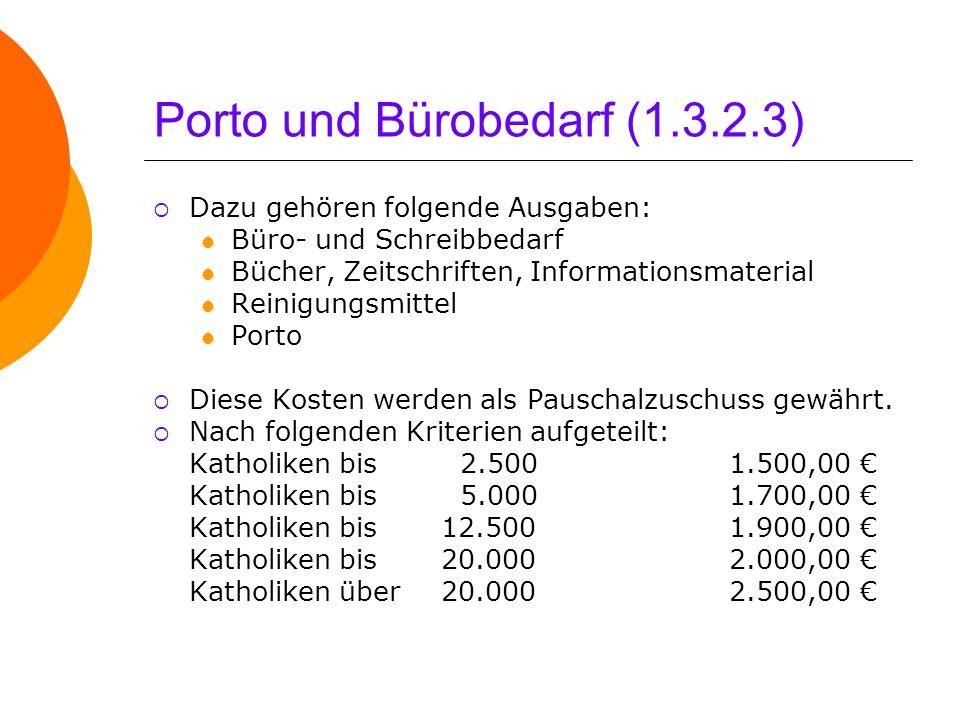 Porto und Bürobedarf (1.3.2.3)